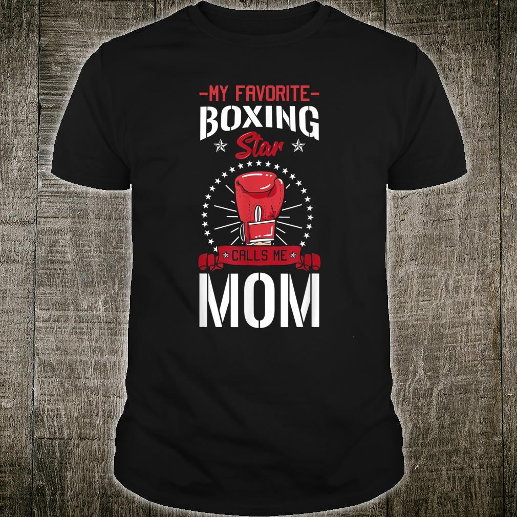 Boxing Ring Boxer Gloves Mom Coach Mother's Day Shirt