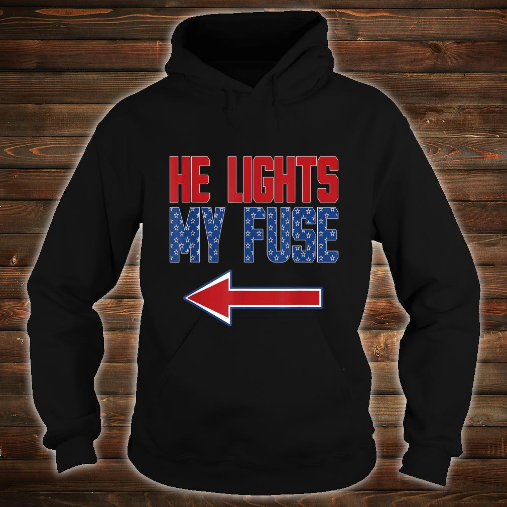 Matching Fourth of July Couples Independence Day Shirt hoodie