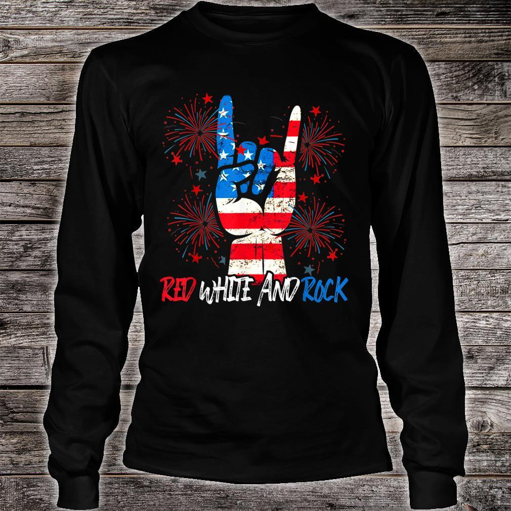 Red White And Rock Pride American 4th July Independence day Shirt long sleeved