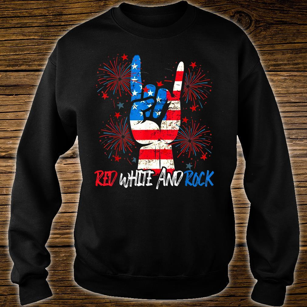 Red White And Rock Pride American 4th July Independence day Shirt sweater
