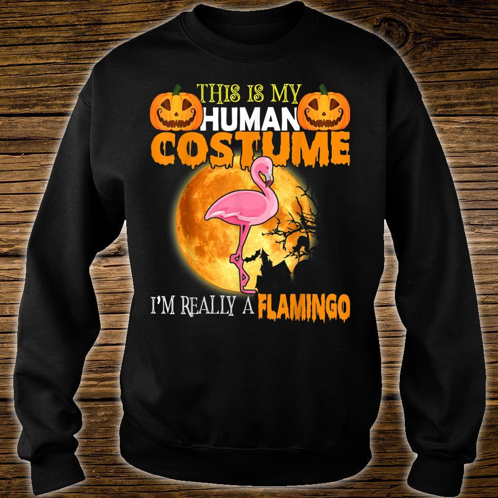 This Is My Human Costume I'm Really A Flamingo Halloween Shirt sweater